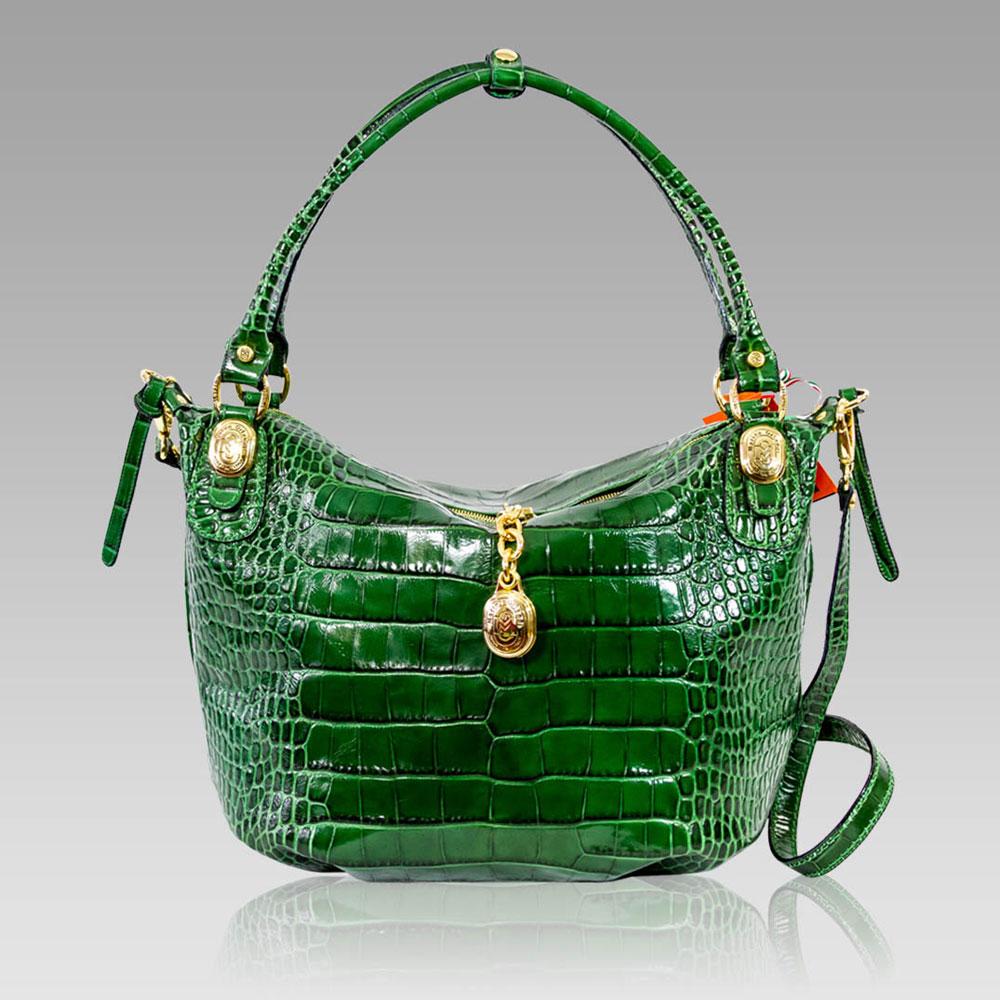1b9bf5349ff Marino Orlandi + Crossbody Bag + Croc Embossed Leather