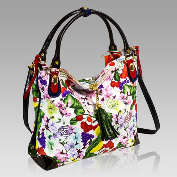 98dc6496a51f1 Marino Orlandi Designer Floral Leather Large Slouchy Crossbody Bag ...
