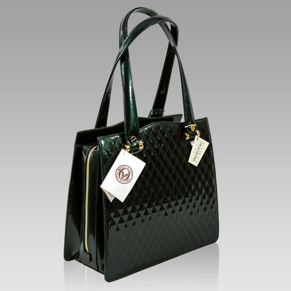 Valentino Orlandi Laser Cut Green Suede Leather Purse Shoulder Bag