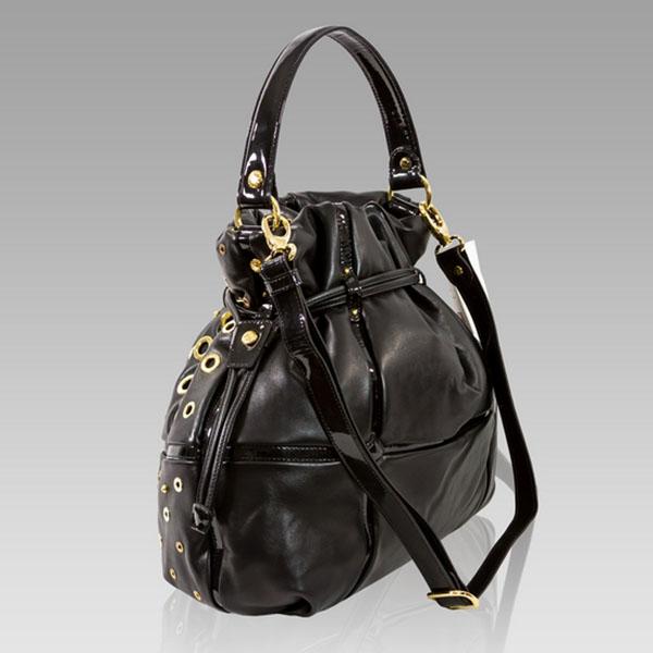 Drawstring Handbag   Italian Leather   Valentino Orlandi Designer