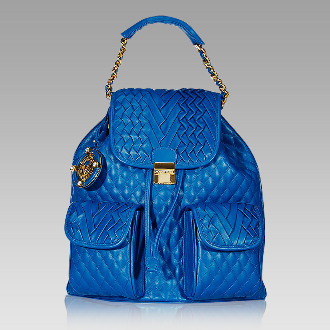 Valentino Orlandi Backpack Pleated Chanel Leather