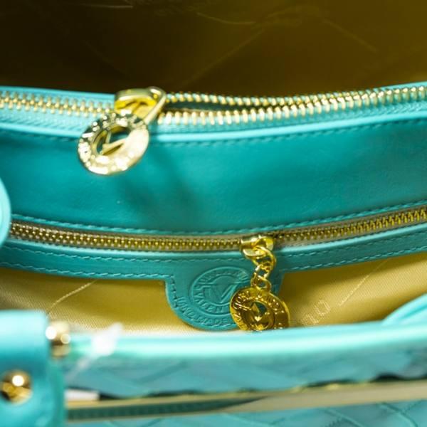 Valentino Orlandi Bucket Handbag Quilted Leather