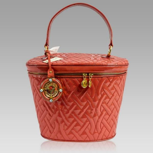 Valentino Orlandi Hermes Red Quilted Patent Leather Handbag