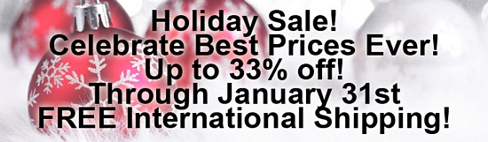 Holiday Sale! Celebrate Best Prices Ever! - Upto 33 Percent Off