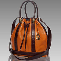 Designer Italian Leather Drawstring Bags