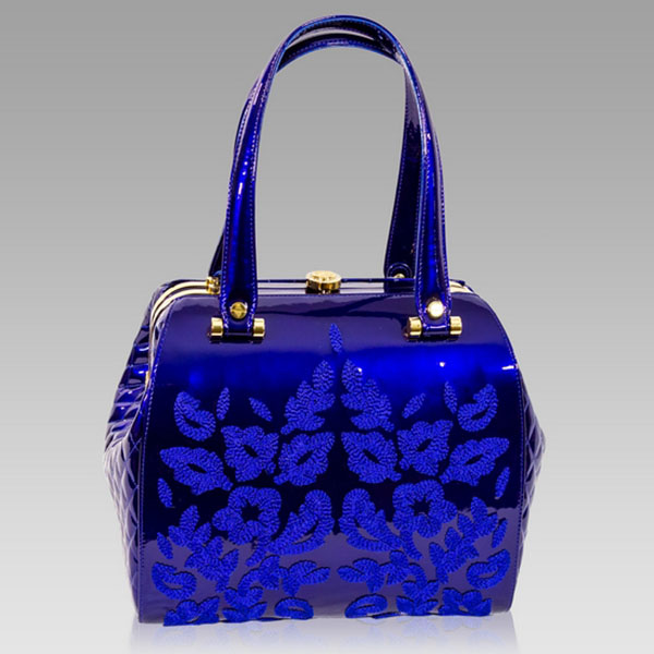 Designer Italian Leather Embroidered Bags and Purses