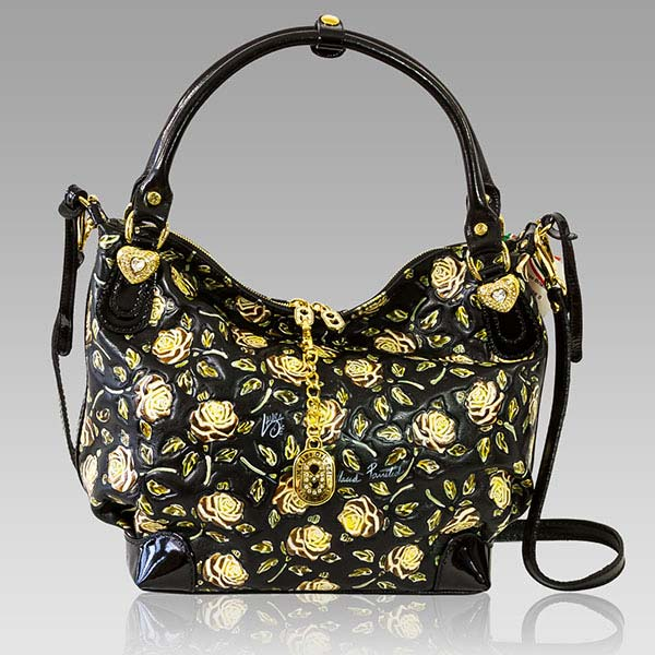 Designer Italian Leather Floral Bags