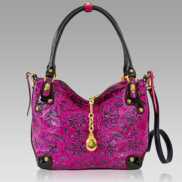 Designer Italian Leather Pink Bags