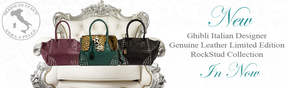 New Ghibli Italian Designer Genuine Leather Limited Edition Rockstud Collection