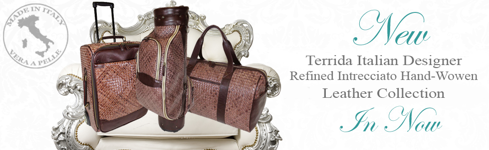 New Terrida Italian Designer Refined Intrecciado Hand-Woven