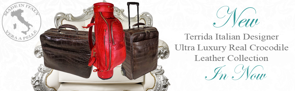 New Terrida Italian Designer Ultra Luxury Real Crocodile