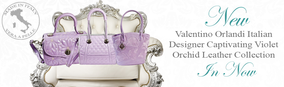 New Valentino Orlandi Italian Designer Captivating Violet Orchid 