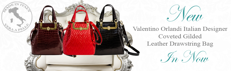 New Valentino Orlandi Italian Designer Coveted Gilded 