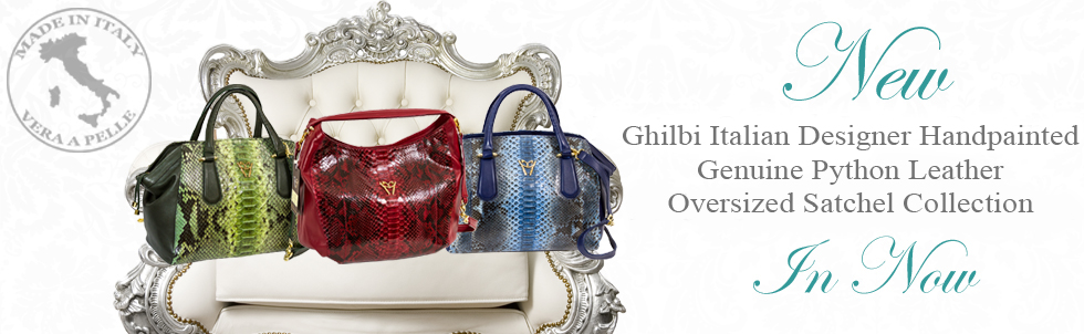New Ghibli Italian Designer Handpainted Genuine Python Leather Oversized Satchel Collection