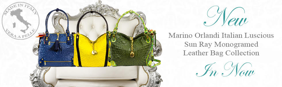 New Marino Orlandi Italian Luscious Sun Ray Monogramed Leather Bag Collection In Now
