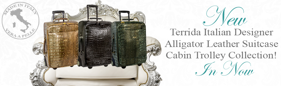 New Terrida Italian Designer Alligator Leather Suitcase Cabin Trolley Collection