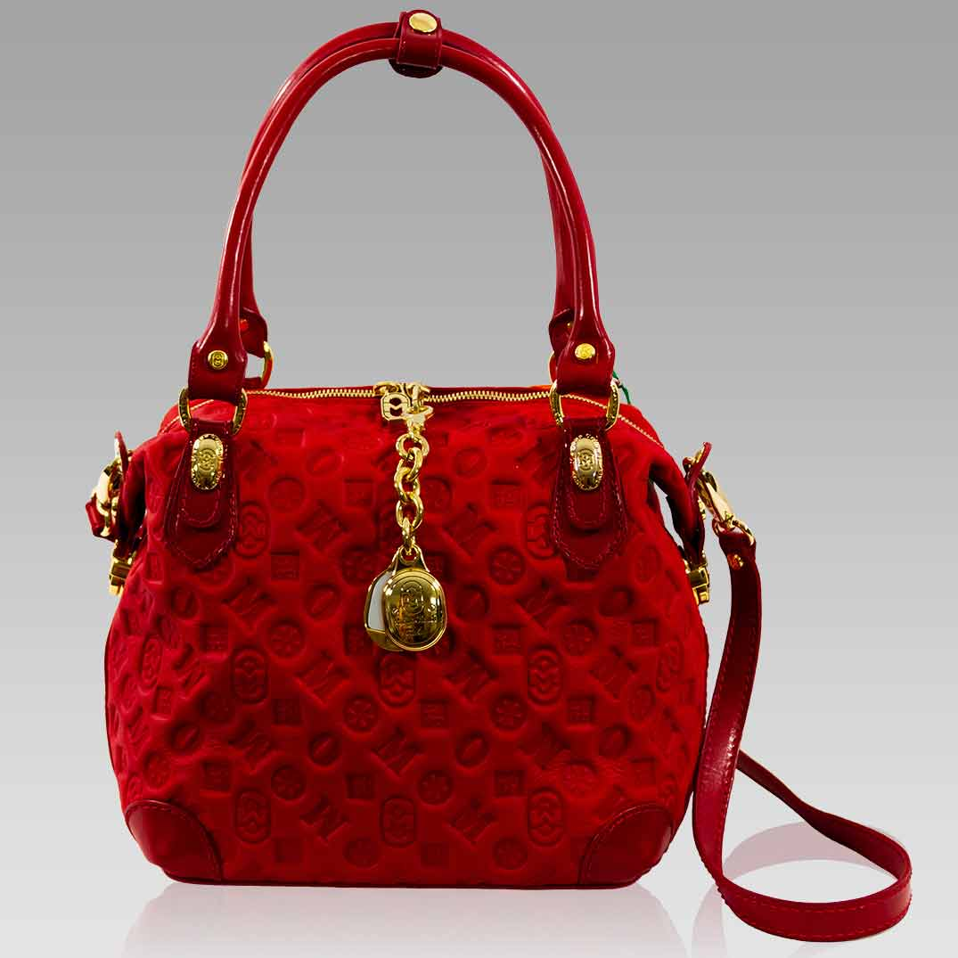 Marino Orlandi Handbag Purse Ruby Quilted Leather Crossbody Box Bag
