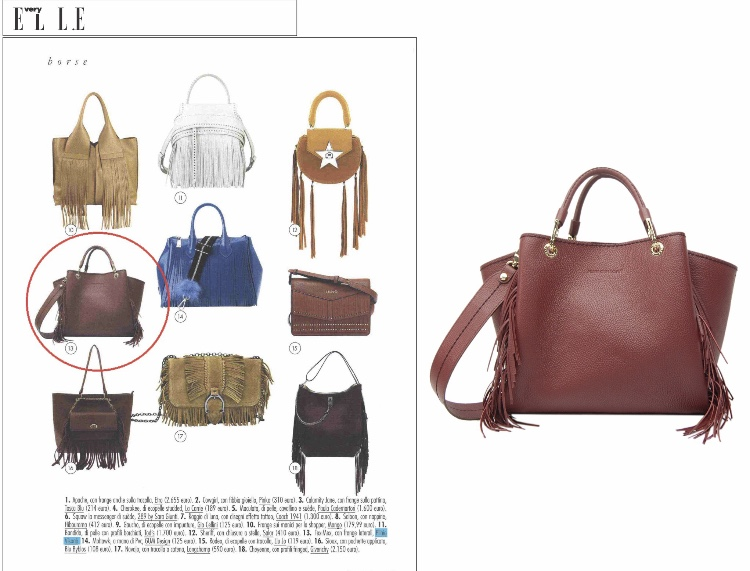 26b35547bd6ff ... Plinio Visona Marsala Red Leather Purse Tote Crossbody Bag w  Fringe ...