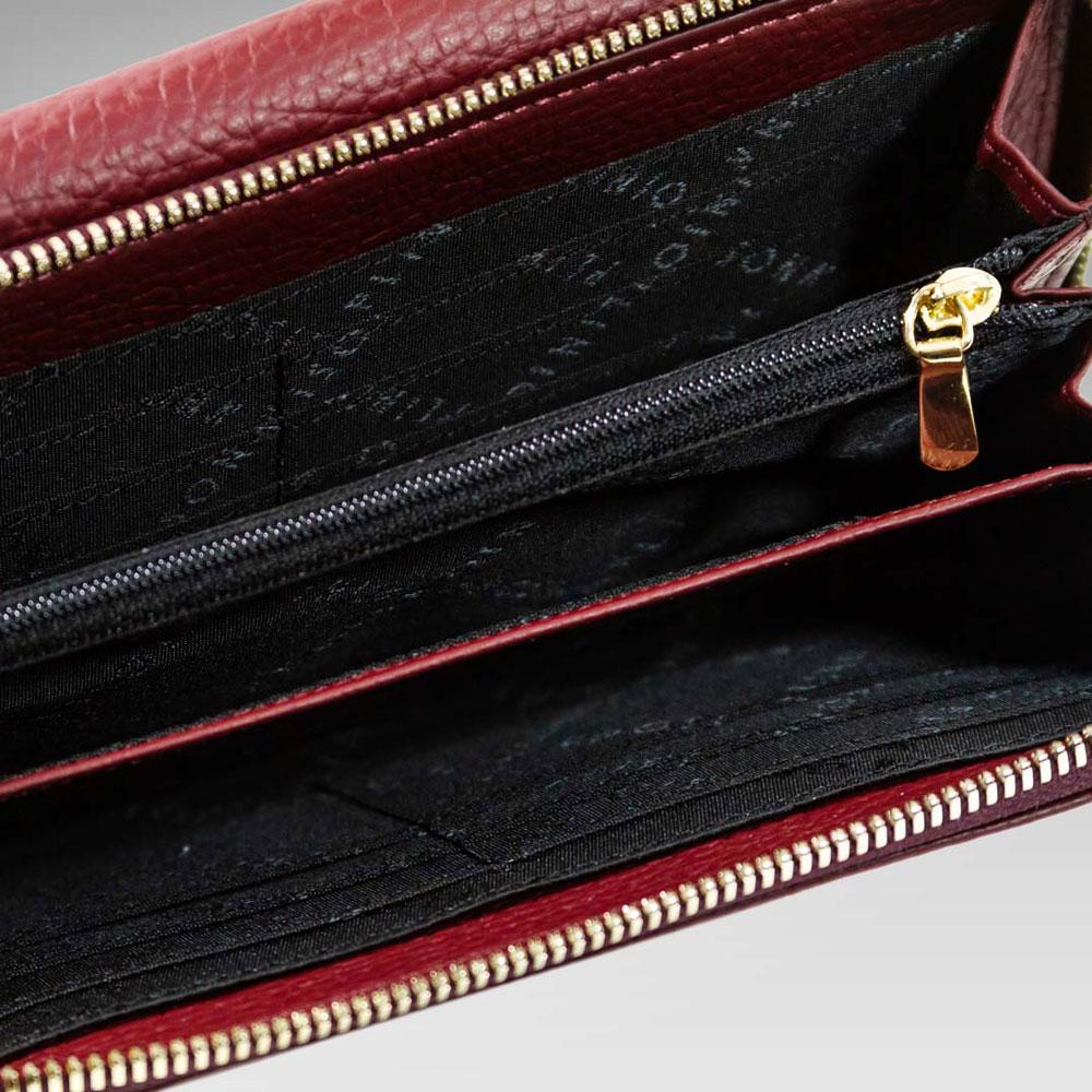 d07979fa04f73 ... Plinio Visona Marsala Red Leather Statement Crossbody Bag   Wallet Set  ...