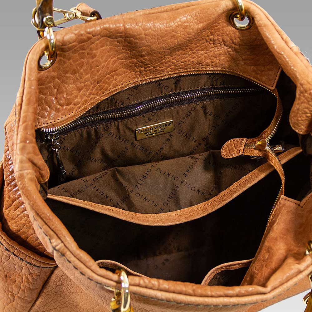 100% top quality official photos exclusive shoes Plinio Visona Large Handbag Tote Purse Leather Crossbody Bag in Camel  Satchel Purse Designer Handbag Plinio Visona [01PV16683GLBE] - $243.00 :  Custom ...