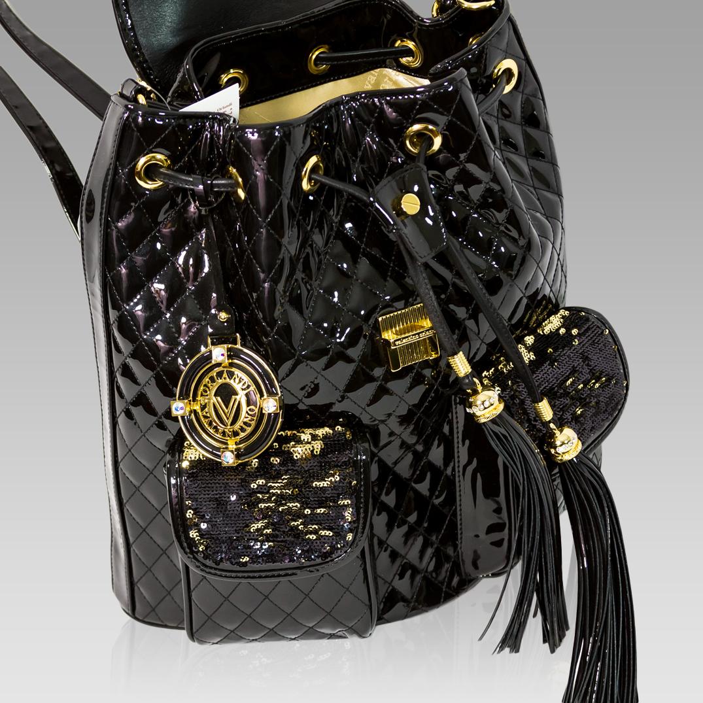 43b13466ae81 ... Valentino Orlandi Glamorous Black Chanel Leather Fringe Backpack Bag ...
