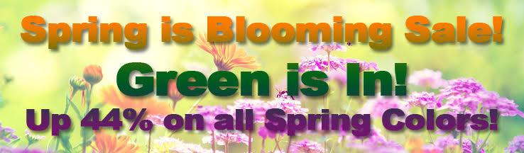 2017 SPRING BLOOMING SALE! GREEN IS IN! UP TO 44% OFF ON ALL SPRING COLORS!!