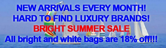 2015 DESIGNER ITALIAN BAGS - BRIGHT SUMMER SALE!