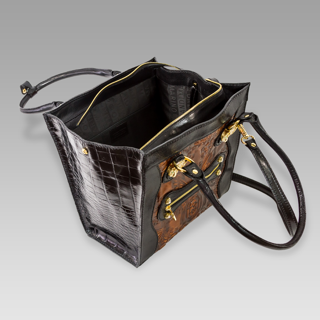 Regular Butterflies Bucket Bag w//Genuine Leather Trim Personalized Front /& Back