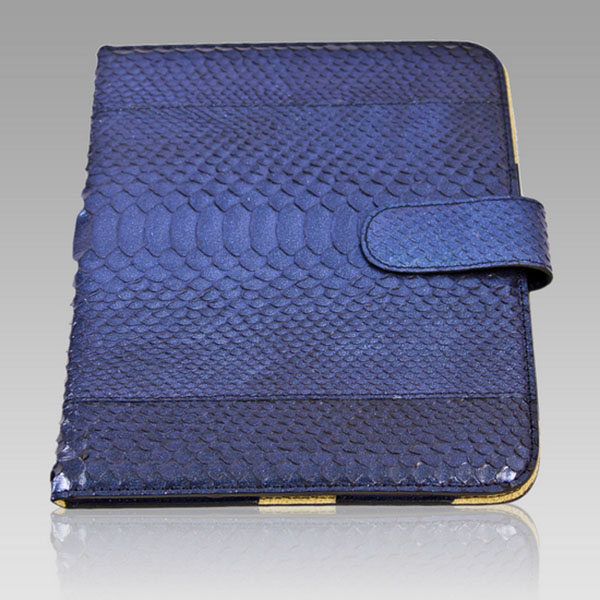 Ghibli  Metallic Sapphire Python Leather Ipad Case
