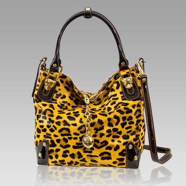 Marino Orlandi  Cheetah Haircalf Crossbody Bag Purse