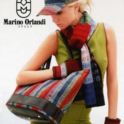 Marino Orlandi  Multicolored Wool Signature Long Scarf