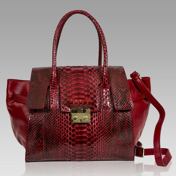 Ghibli  Cartier Red Python & Leather Large Tote Bag