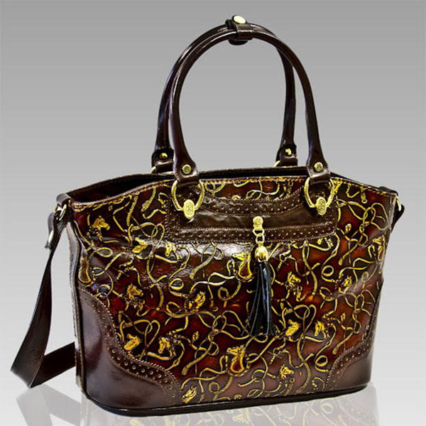 Marino Orlandi  Cavallino Leather Crossbody Handbag