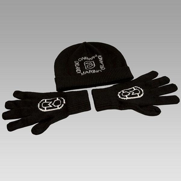 Marino Orlandi  Men's 100% Wool Hat & Gloves Set