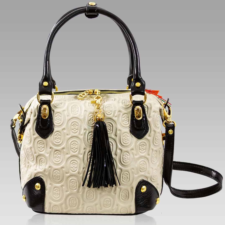Marino Orlandi Handbag Ivory Horseshoe Leather Crossbody Box Bag