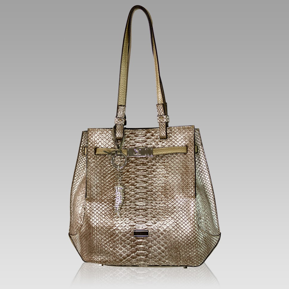 Silvano Biagini Large Handbag Purse Python Leather Bag in Musgravite