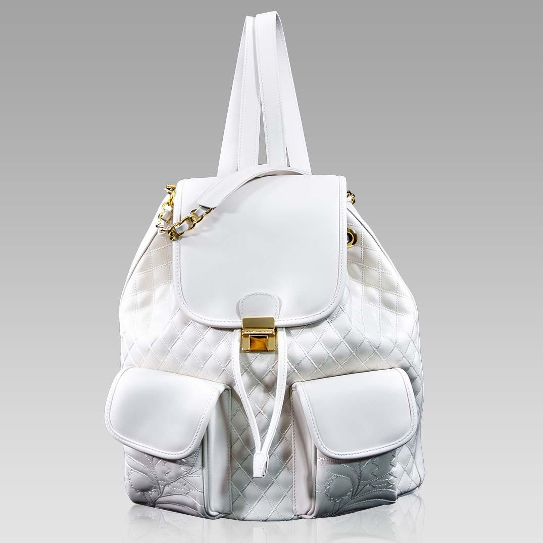 Valentino Orlandi Large Backpack Alabaster Chanel Leather Bucket Bag