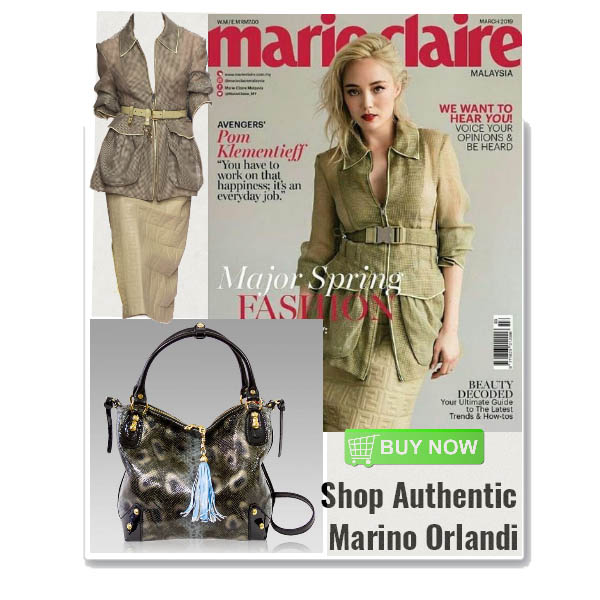 Marino_Orlandi_Smoke_Grey_Python_Embossed_Leather_Purse_Crossbody_Bag