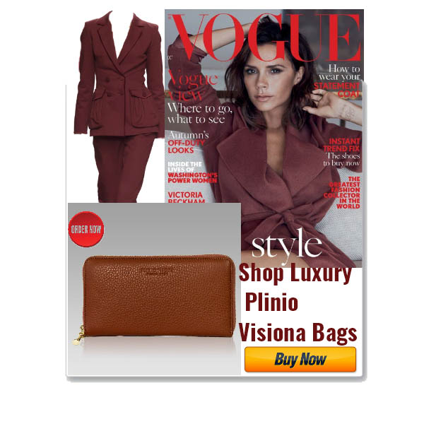 Plinio_Visona_Cognac_Maroon_Leather_Ziparound_Clutch_Wallet_Purse