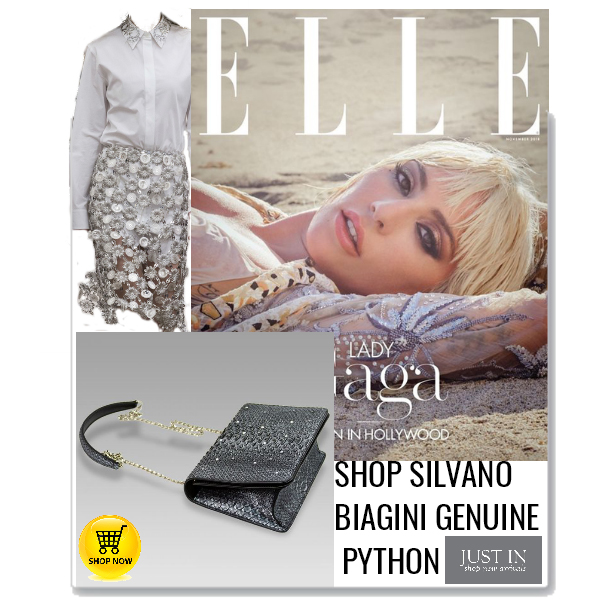Silvano_Biagini_Antracite_Genuine_Python_Leather_Clutch_Swarovski