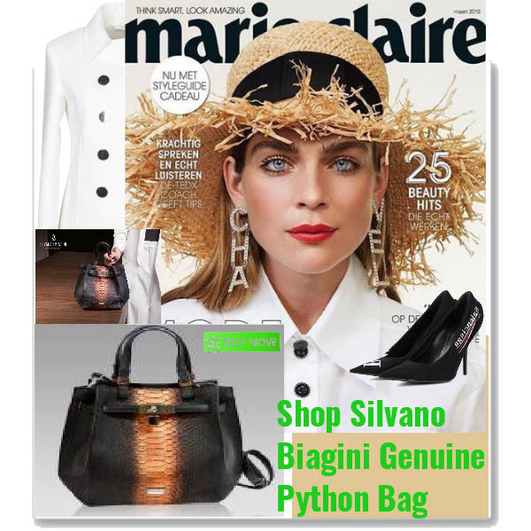 Silvano_Biagini_Chocolate_Opal_Genuine_Python_Leather_Stateement_Bag