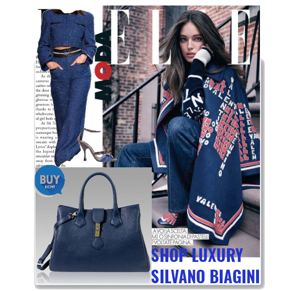 Silvano_Biagini_Royal_Blue_Leather_Crossbody_Large_Purse_Laptop_Bag