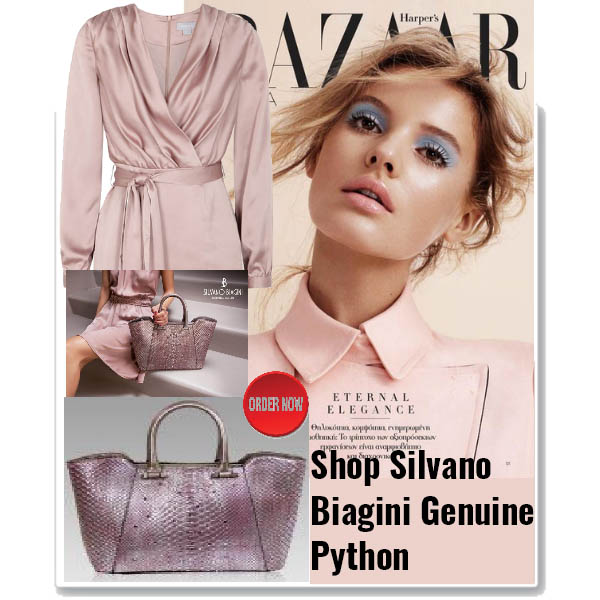 Silvano_Biagini_Tourmaline_Genuine_Python_Leather_Swarovski_Large_Bag