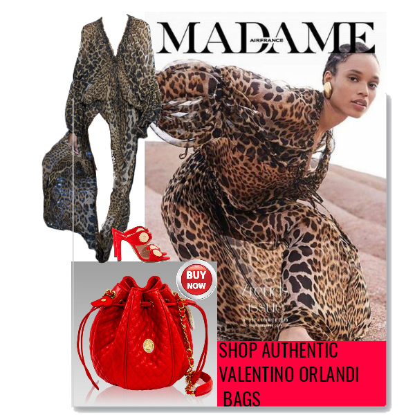 Valentino_Orlandi_Chanel_Coral_Red_Leather_Bucket_Drawstring_Bag_Purse