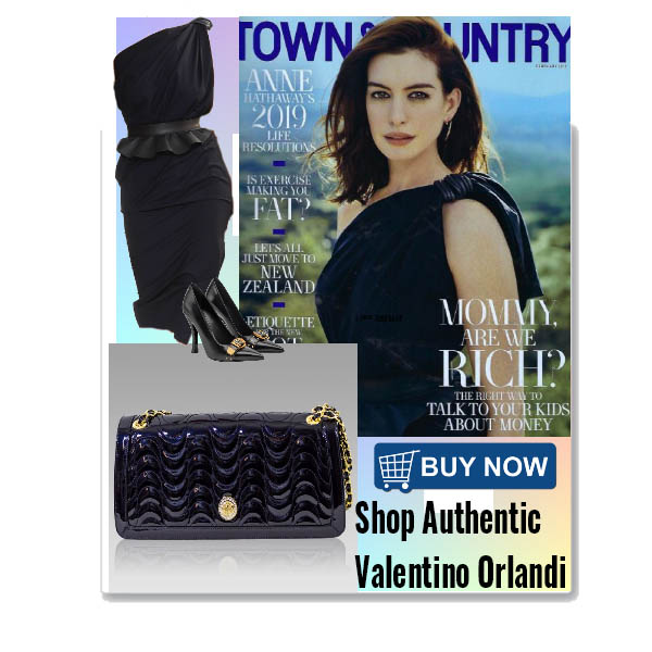 Valentino_Orlandi_Midnight_Blue_Wavy_Leather_Shoulder_Bag_Chain