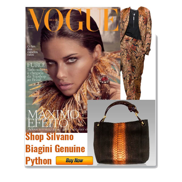 Silvano_Biagini_Chocolate_Opal_Genuine_Python_Leather_Bag_Dog_Handle