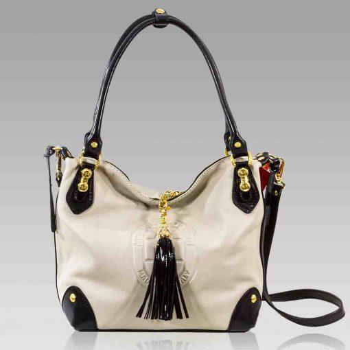 Marino Orlandi Crossbody Bag Purse Alebaster Leather Hobo Satchel Tote