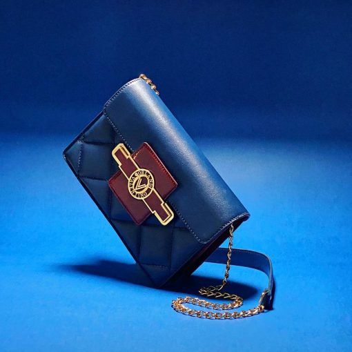 01VO6114QLBU_Valentino Orlandi Quilted Bag