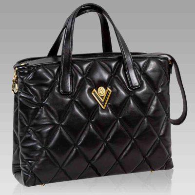 Valentino Orlandi Large Crossbody Bag Onyx Chanel Leather Tote w/Chain
