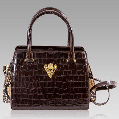 chocolate crocodile purse